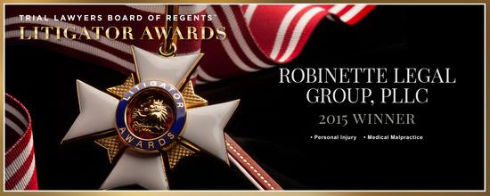 Robinette Legal Group, PLLC Wins Prestigious 2015 Litigator Award