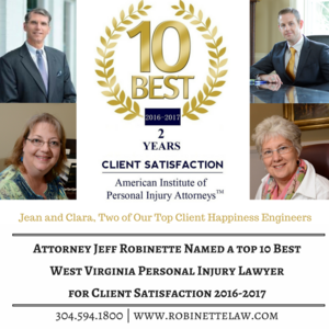 WV Top 10 Attorney for Personal Injury | Robinette Legal Group PLLC