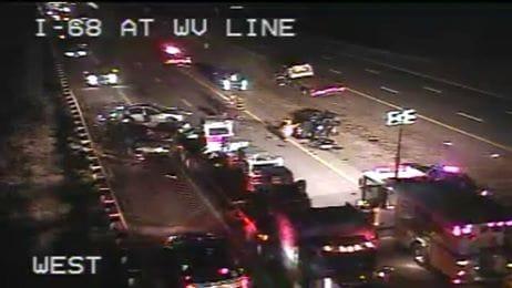 Multi-vehicle Accidents on I-68 Claim Three Lives, Injure Others