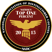 Attorney Jeff Robinette Selected for NADC Nation's Top One Percent